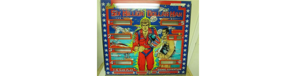 Six Million Dollar Man Back Glass