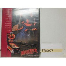 Maverick Pinball Machine Flyer