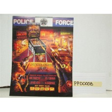 Police Force Pinball Machine Flyer