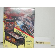 Black Rose Pinball Machine Flyer