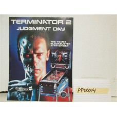 Terminator 2:  Judgement Day Pinball Machine Flyer