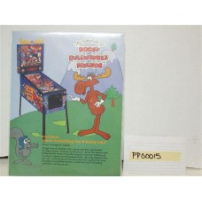 The Adventures of Rocky and Bullwinkle and Friends Pinball Machine Flyer