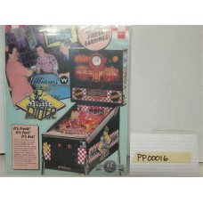 Diner Pinball Machine Flyer