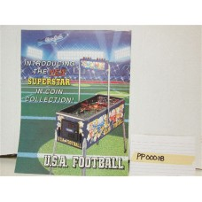 U.S.A. Football Pinball Machine Flyer