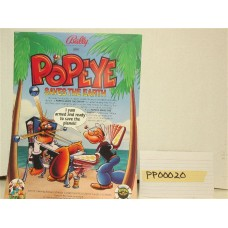 Popeye Pinball Machine Flyer
